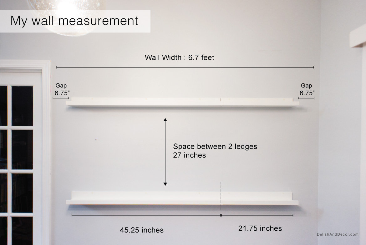 My wall measurement - picture ledges