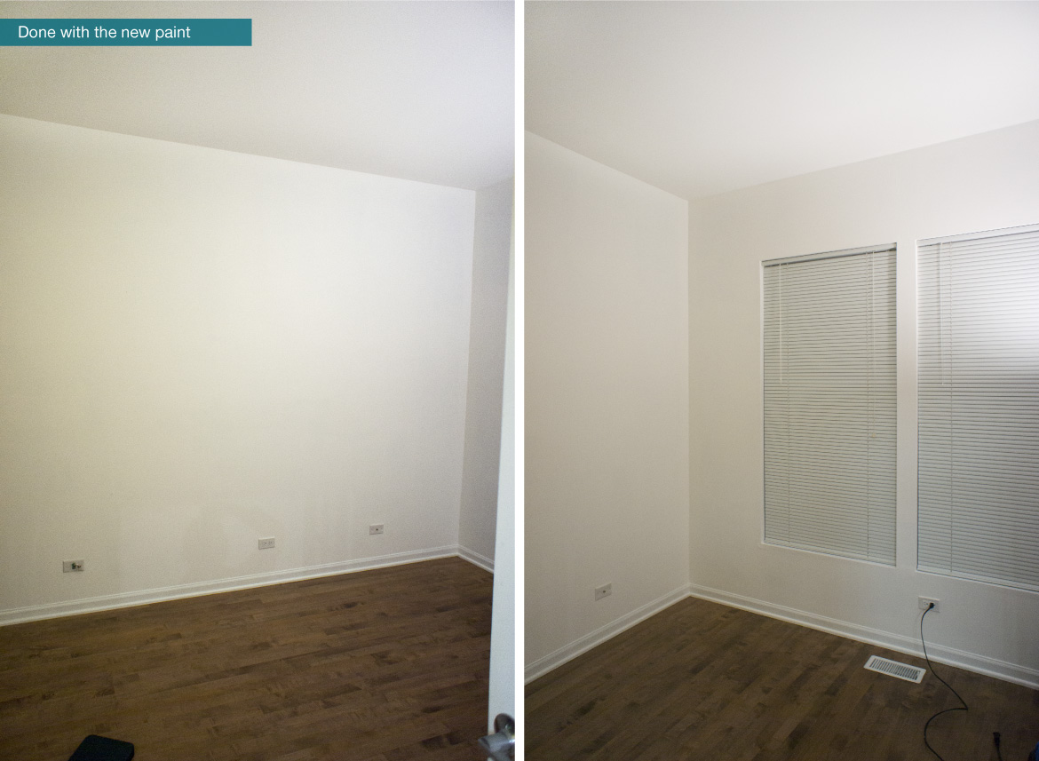 After photo - Painted the room in white