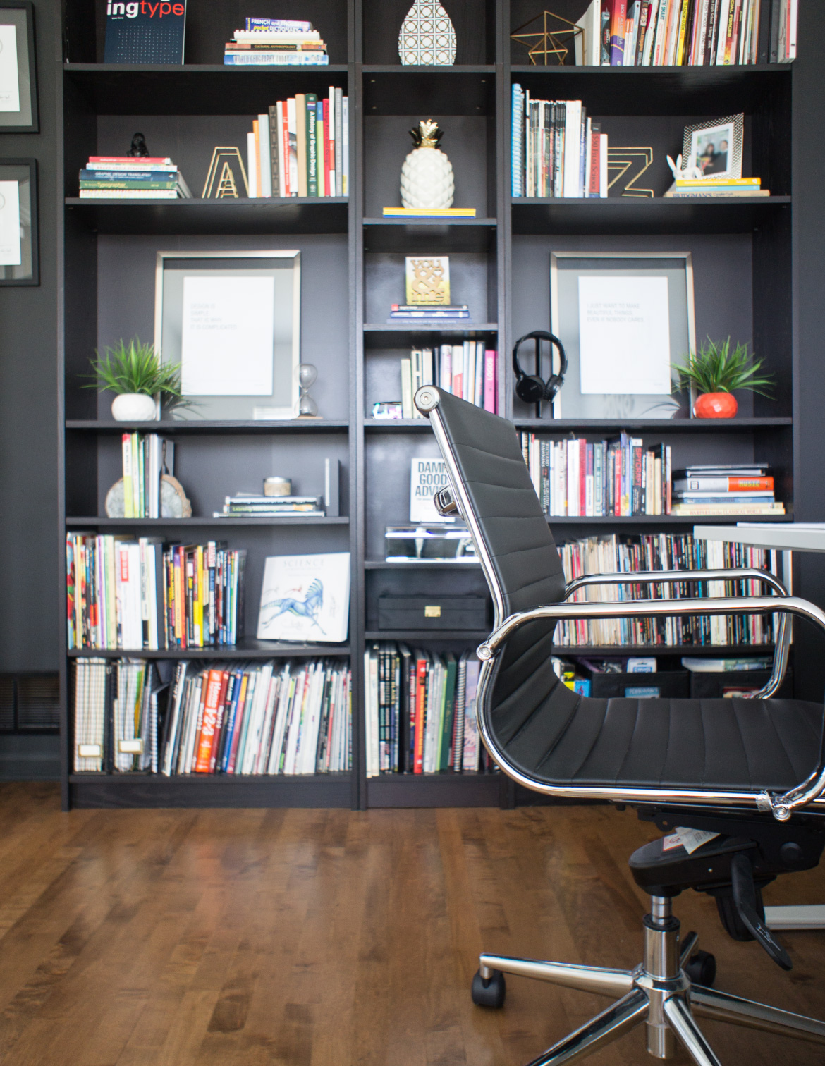Bookcase wall - home office