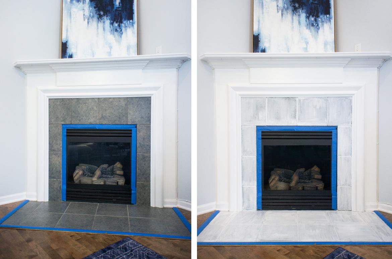Fireplace in progress