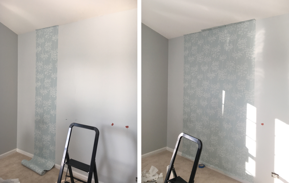 hanging wallpaper process