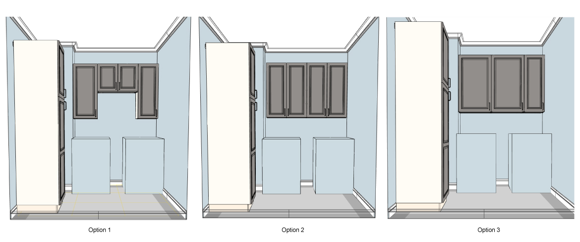 Laundry room - Cabinets layout